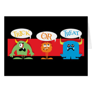 Trick or Treat Monsters Card