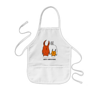 Trick or Treat Monsters Halloween Apron