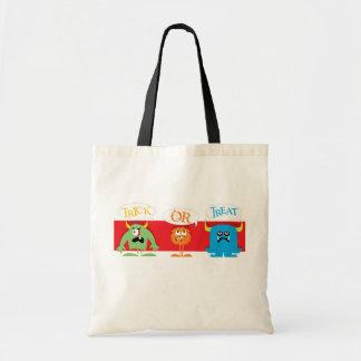 Trick or treat monsters halloween reusable bag