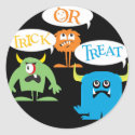 Trick or Treat Monsters Halloween Stickers sticker
