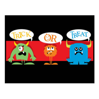Trick or Treat Monsters Postcard