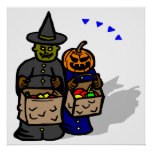 Trick Or Treat Monsters Print