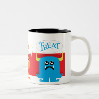 Trick or Treat Monsters Two-Tone Coffee Mug