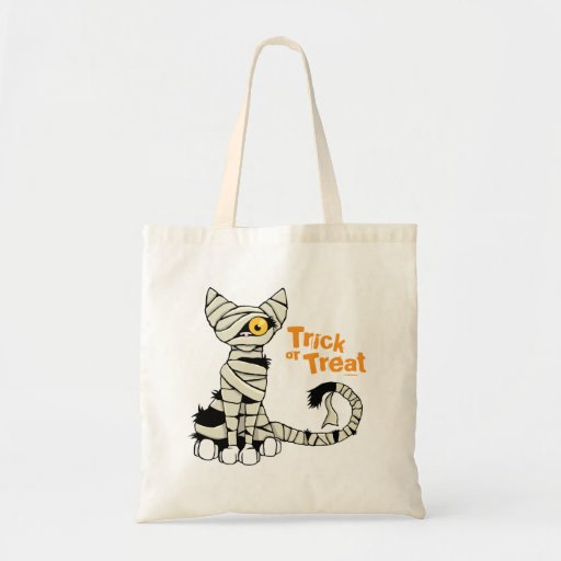 Trick or Treat Mummy Cat - Halloween Bag