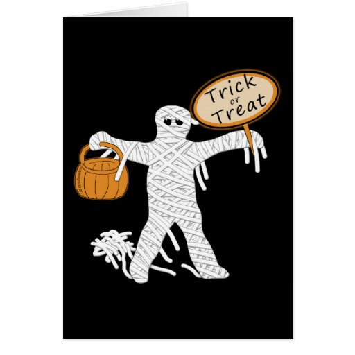 Trick Or Treat Mummy Halloween Stationery Note Card