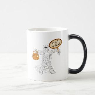 Trick Or Treat Mummy Halloween 11 Oz Magic Heat Color-Changing Coffee Mug
