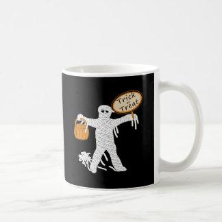 Trick Or Treat Mummy Halloween Classic White Coffee Mug