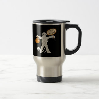 Trick Or Treat Mummy Halloween 15 Oz Stainless Steel Travel Mug