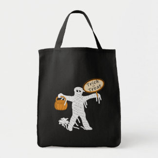 Trick Or Treat Mummy Halloween Tote Bag