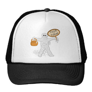 Trick Or Treat Mummy Halloween Trucker Hat