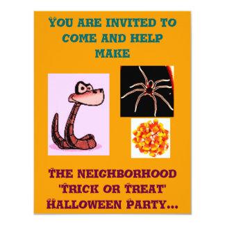 Trick or Treat Neighborhood Party Invitation