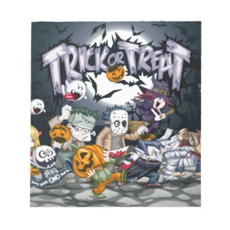 Trick or treat! note pad
