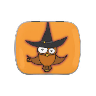 Trick or Treat Owl Jelly Belly Candy Tins