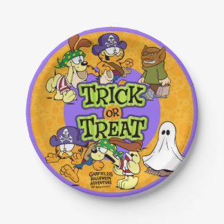 Trick-or-Treat Paper Plate