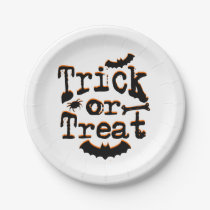 trick or treat paper plate