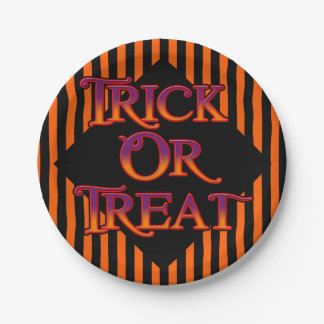 Trick or Treat Paper Plate 7 Inch Paper Plate