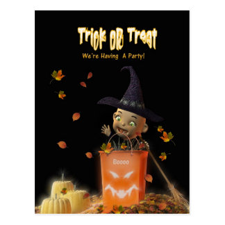 Trick Or Treat Party Invitations Post Cards