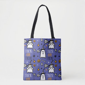 Trick Or Treat Peek a Boo! Ghost Happy Halloween Tote Bag