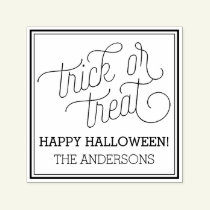 Trick or Treat Personalized Halloween Stamp