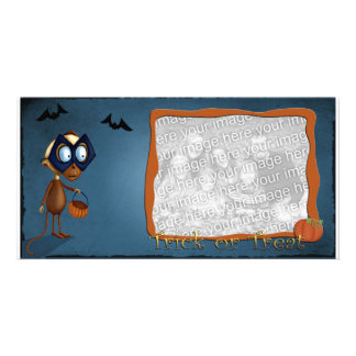 Trick or Treat photo template Photo Card