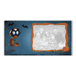Trick or Treat photo template Picture Card