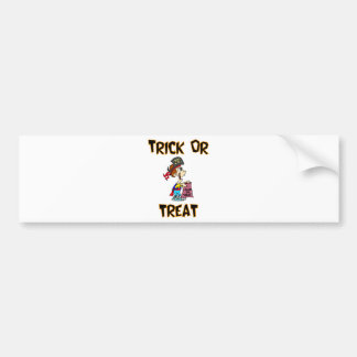 Trick Or Treat Pirate Costume Bumper Stickers