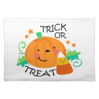 TRICK OR TREAT CLOTH PLACE MAT