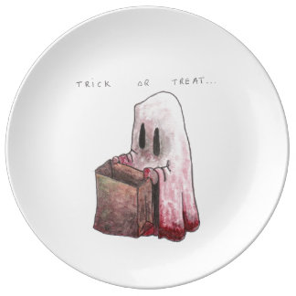 Trick or Treat Plate Porcelain Plates