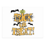Trick or treat post cards