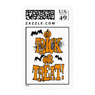 TRICK OR TREAT POSTAGE STAMPS