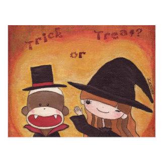 Trick or Treat? Postcard