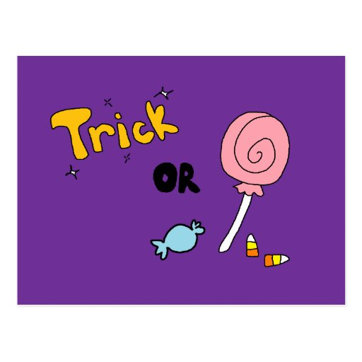 Trick or Treat Post Card