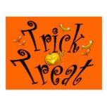Trick or Treat Postcard