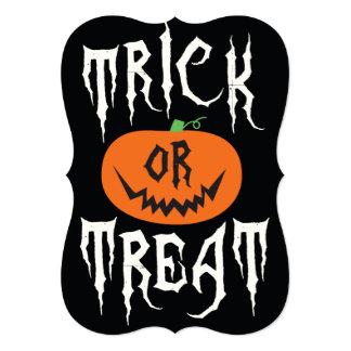 Trick or Treat Pumpkin Halloween Party Invitation