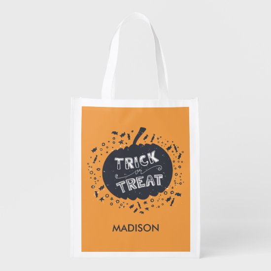 Trick Or Treat Pumpkin Halloween Treat Tote Bag