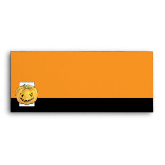 Trick or Treat Pumpkin Letterhead Envelope