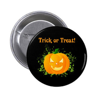 Trick or Treat Pumpkin Pinback Button