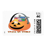 Trick or Treat Pumpkin Postage Stamps