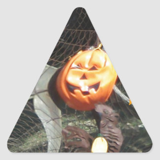Trick or Treat Pumpkins Fractal Triangle Sticker