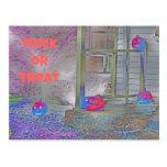 Trick or Treat Pumpkins Gimp Art Postcard