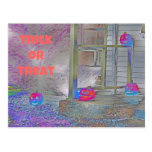 Trick or Treat Pumpkins Gimp Art Postcards