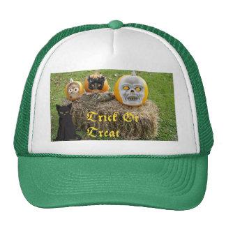 Trick or Treat Pumpkins on Haystack Trucker Hat