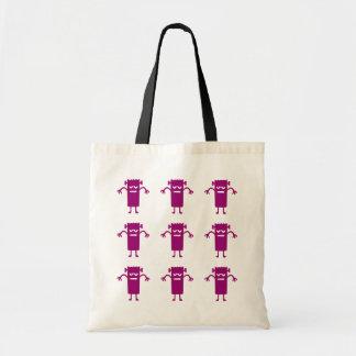Trick or Treat Purple Frankenstein Canvas Tote Bag