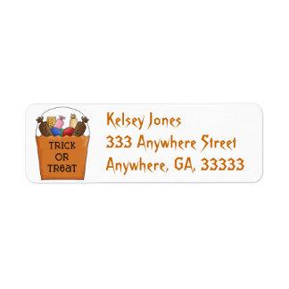 Trick or Treat return address labels