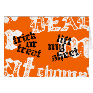 Trick or Treat Rhyme Card