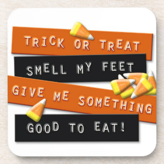 Trick or Treat rhyme sign Coaster