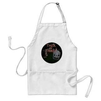 Trick or Treat - RIP  Tombstone Adult Apron