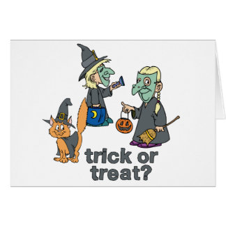 Trick Or Treat Scene Greeting Cards