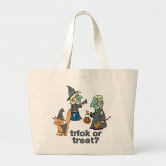 Trick Or Treat Scene Tote Bags