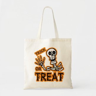TRICK OR TREAT SKELETON bag